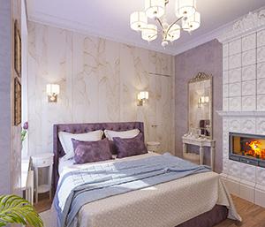 дизайн спальни современная классика мал