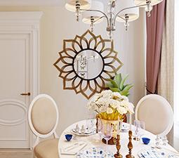 дизайн столовой в классическом стиле мал
