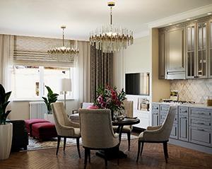 гостиная в стиле американская классика