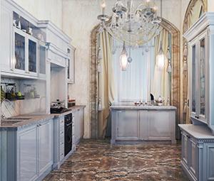 заказать интерьер кухни в классическом стиле мал